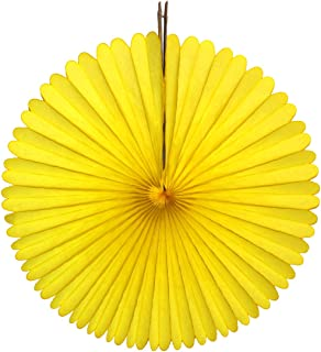 product image for 3-pack 13 Inch Tissue Paper Party Fans (Yellow)