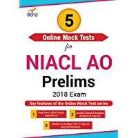 Disha Publication 5 Online Mock Test Series – NIACL AO Prelims 2018 Exam (Email Delivery in 2 Hours - No CD)