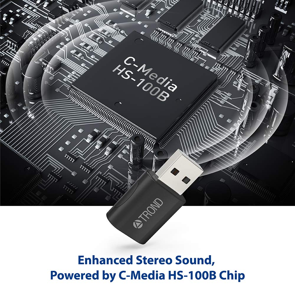 TROND External USB Audio Adapter Sound Card, with One 3.5mm Aux TRRS Jack for Integrated Audio Out & Microphone in by TROND (Image #3)