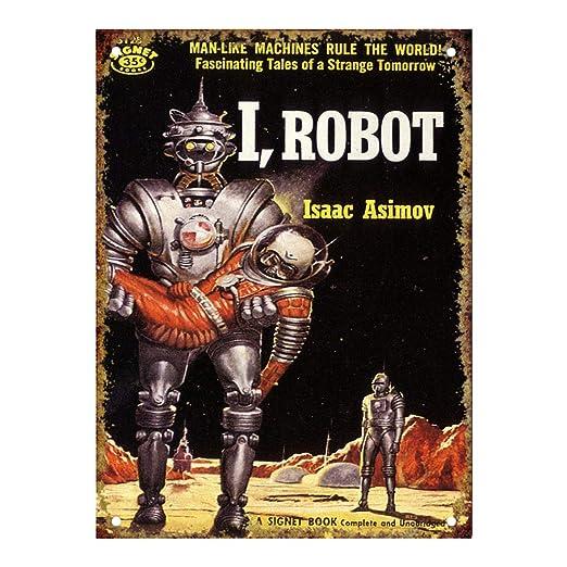 Robot Isaac Asimov Póster De Pared Metal Retro Placa Cartel ...