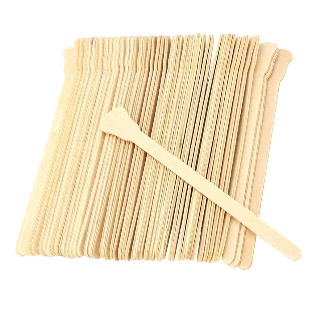 Homyl 50Pcs Wooden Waxing Spatula Tongue Depressor Tattoo Wax Medication Mixing Stick