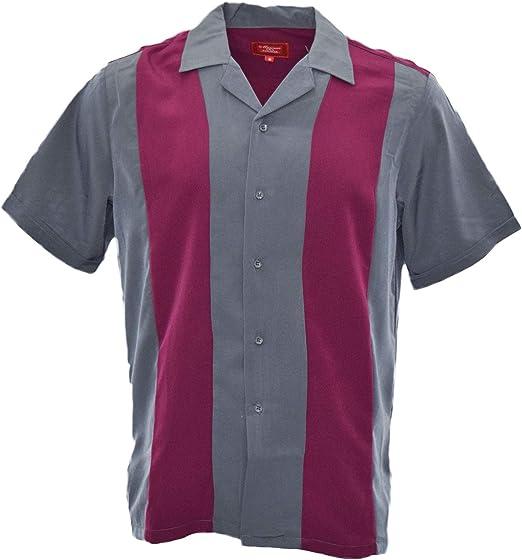 GUAYABERA - Camisa de Vestir Informal de Dos Tonos Estilo Charlie Sheen para Hombre - - Large: Amazon.es: Ropa y accesorios