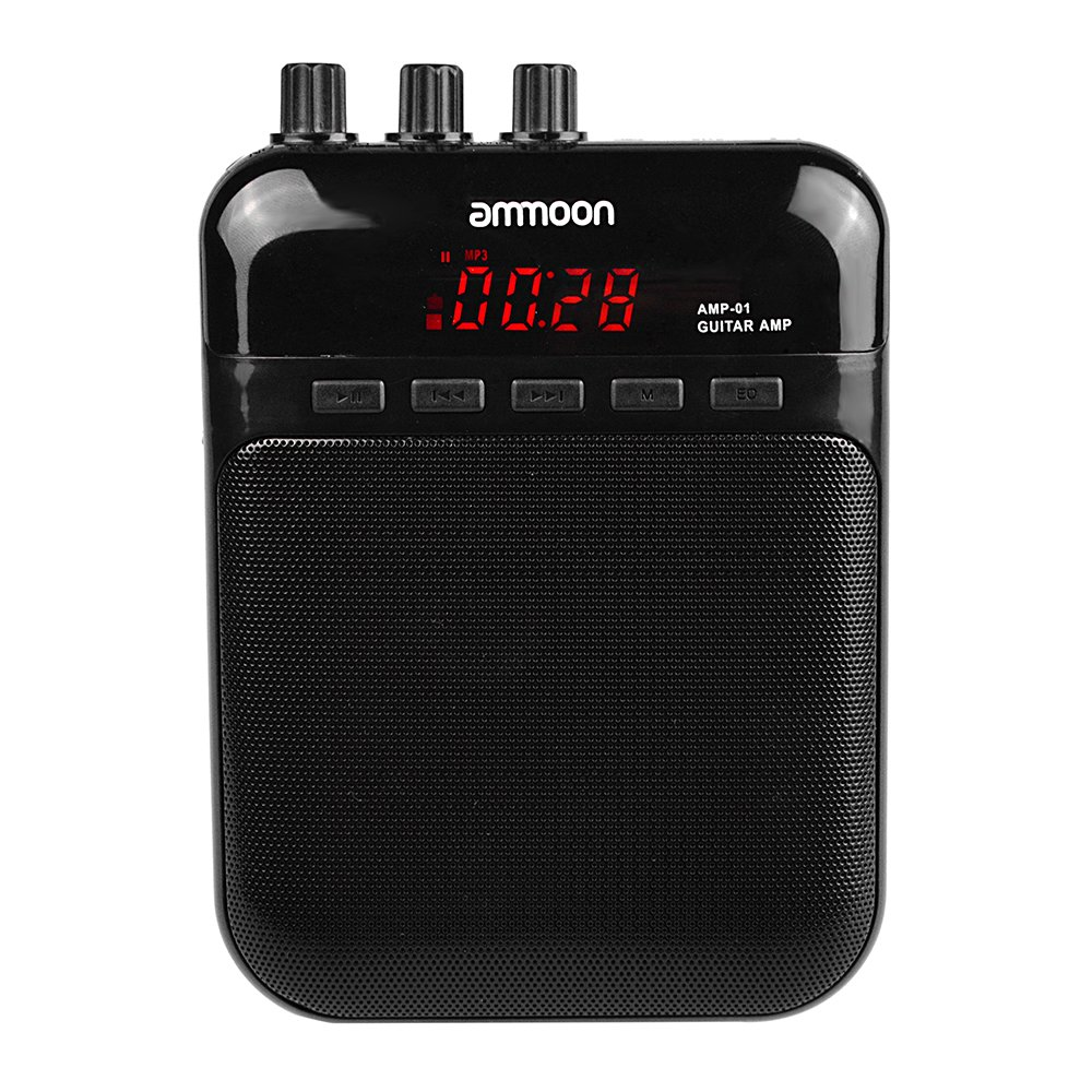 Aroma AG-03M 5W Portable Multifunction Guitar Amp Recorder Speaker Compact with TF Card Slot by ammoon