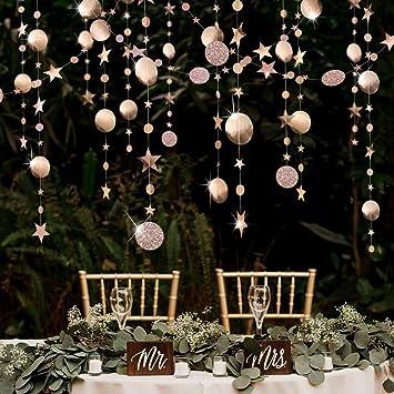 Pink Blume Kit de Guirlandes Champagne Étoile&Cercle Brillant,Bannière  Décorations en Papier pour Anniversaire, Fête de Naissance Bébé, Mariage,  Noël, ...