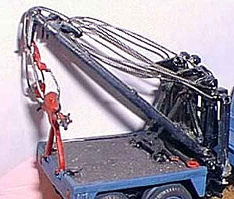 Grúa de camión de auxilio de Holmes 750 Langley Models OO escala modelo de Metal sin