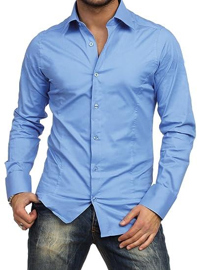 25edbc39f53 Redbridge Chemise Manches Longues Unie Homme Coupe Slim fit Business   Amazon.fr  Vêtements et accessoires