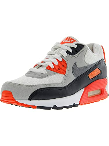 46576566ab Nike Air Max 90 OG Infra Red Mesh Womens Lifestyle Shoe White/Grey/Black