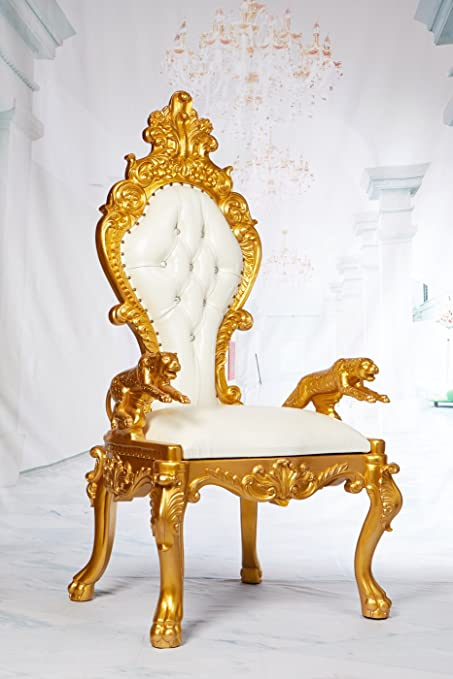 Phenomenal Amazon Com King Joseph High Back Throne Chair With Jagaur Inzonedesignstudio Interior Chair Design Inzonedesignstudiocom