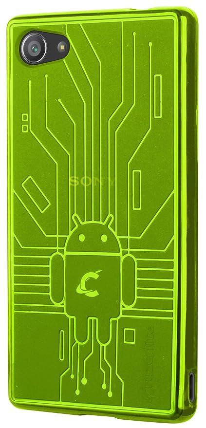 CruzerLite Bugdroid Schlussfall für Sony Xperia Z5 Compact grün