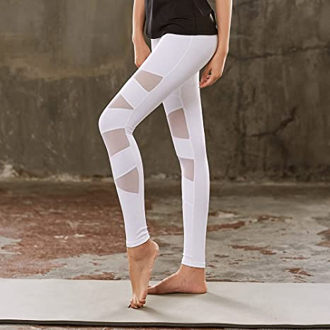 47110c96434bd Image Unavailable. Image not available for. Color: SEXSUNG Tights &  Leggings Fitness Yoga Suit New Yoga Pants Women's ...