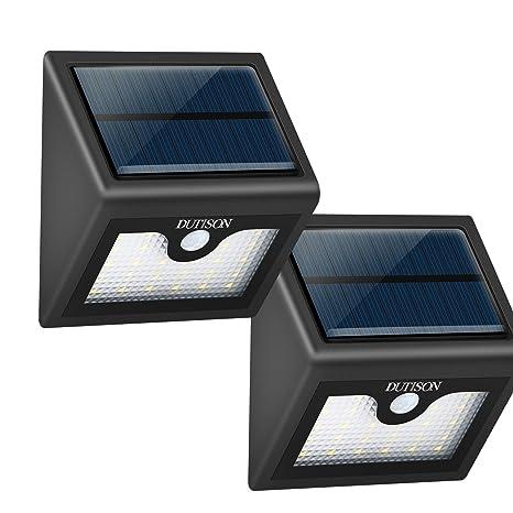 26 LEDs Lámpara Solar,DUTISON Luz Solar con Sensor al Aire Libre IP65 Impermeable/