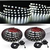 """MICTUNING 2Pcs 60"""" Weiß LED Strip Licht Streifen Lampe Wasserdicht Lichtleiste für Jeep Pickup Truck RV SUV"""