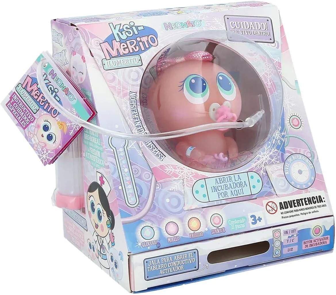 Model LUZINEA Distroller Ksimerito Deluxe Special Edition  ILUMERITOS  Nerlie Neonate Doll Edition in Spanish Ksimerito Distroller Accesories