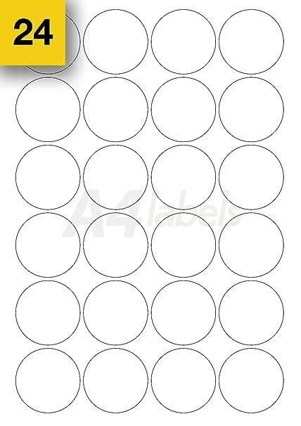 A4 Labels.com Ltd - Etiquetas adhesivas para impresoras (formato redondo, 480 unidades, 45 mm de diámetro)