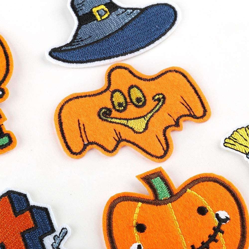 per jeans camiseta bolsas sombrero Decorativos Parches Apliques Sylbx Parche Ropa Iron-on Patches 2 * 11pcs parches Halloween Patch Sticker Bordados Aplique DIY Ropa Parches Termoadhesivos