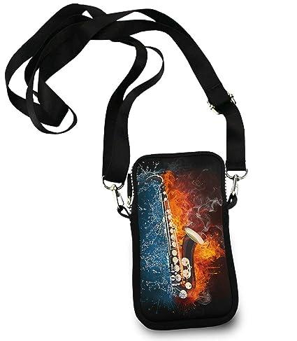 ESTLISS en para Fuego Bolso saxofón diseño Smartphone de y Agua Bandolera frAwqOf