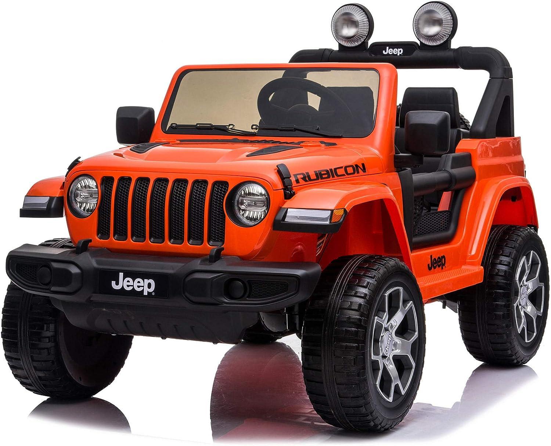giordano shop Macchina a Spinta per Bambini con Parasole Jeep Rubicon Rossa