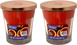Better Homes Gardens 17oz Scented Candle, Red Lava Citrus 2-Pack