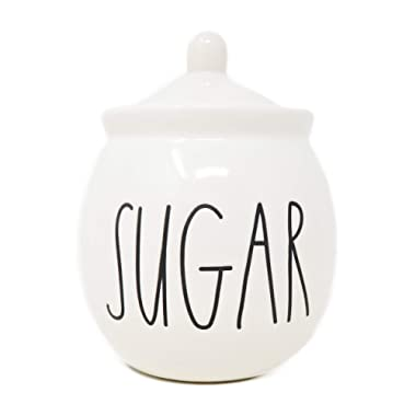 Rae Dunn by Magenta SUGAR bowl with lid. Large Letters.