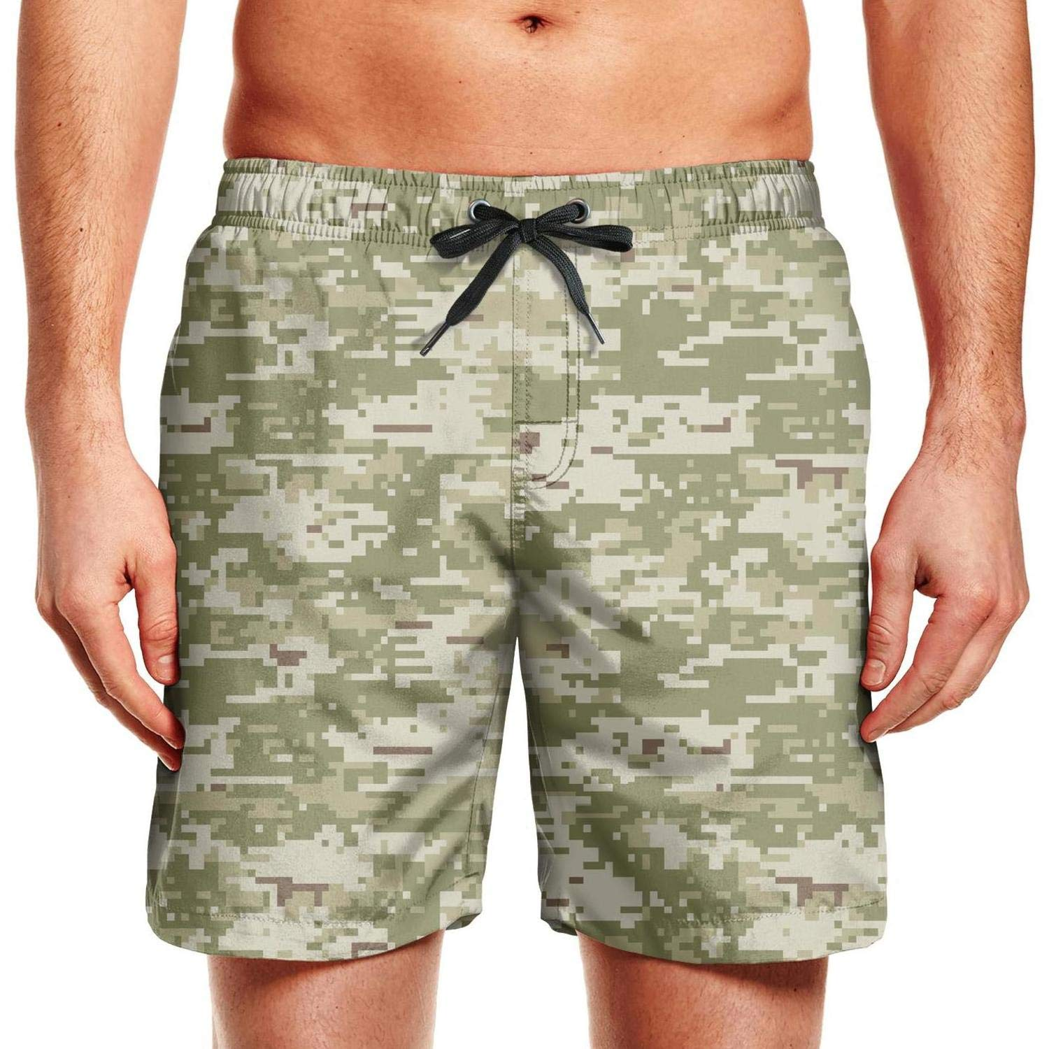 Camouflage Leopard Print Army Board Shorts Swim Beach Shorts for Man Quick Dry