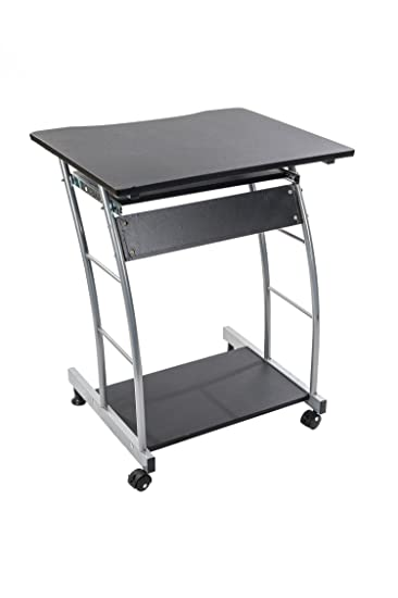 Amazon.com: Home Source Industries 3406 Computer Cart, Black With ...
