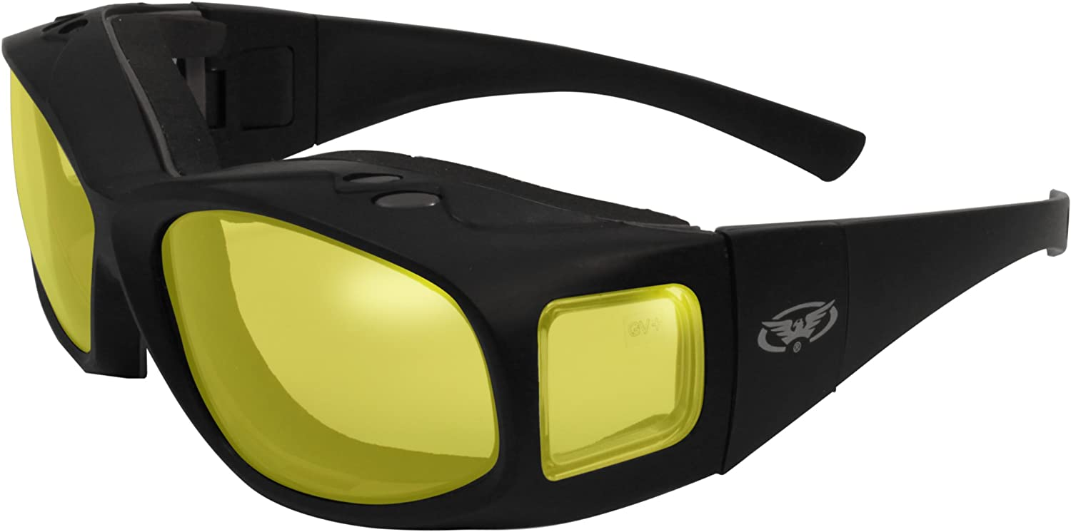 Global Vision Eyewear Caps Anti-Fog Safety Glasses with SBR Foam
