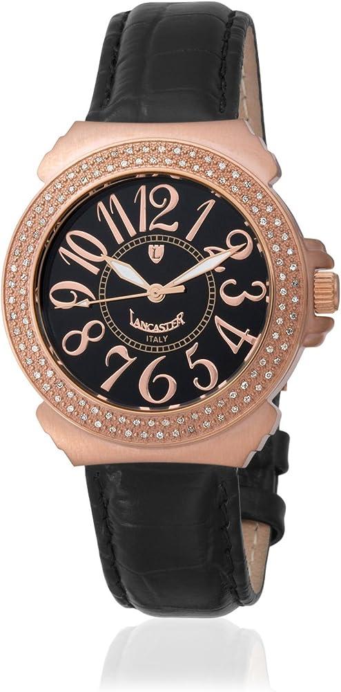 Lancaster 0350LNRNR - Reloj de Señora Cuarzo Piel Negro: Amazon.es: Relojes