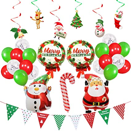 Christmas tree Santa Claus Snowman Xmas Foil Balloon Merry Christmas Party Decor