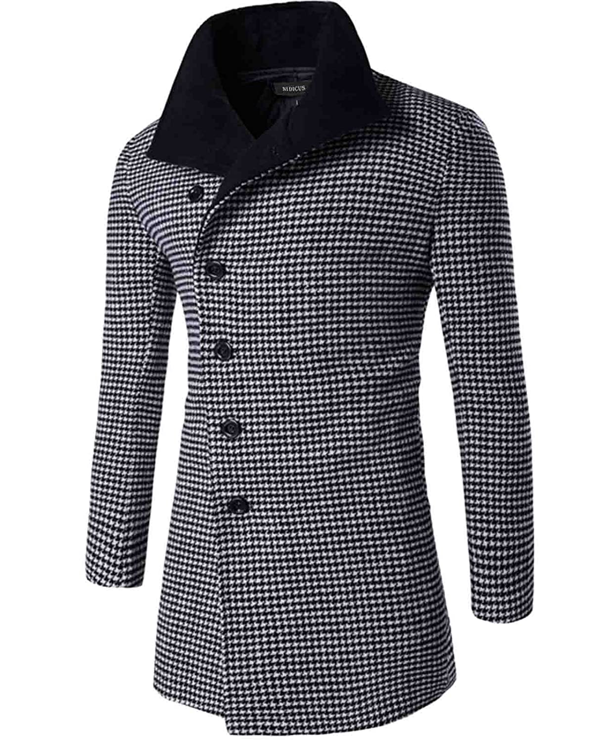 Nidicus Mens Retro Style Houndstooth Checks Single