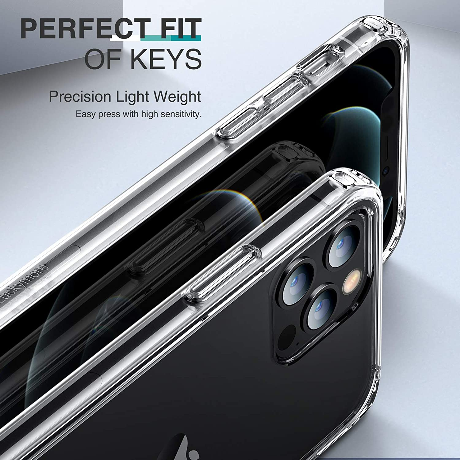 Clear 2020 iPhone Pro Max Case 6.7 Inch Luckymore Compatible with iPhone 12 Pro Max Case