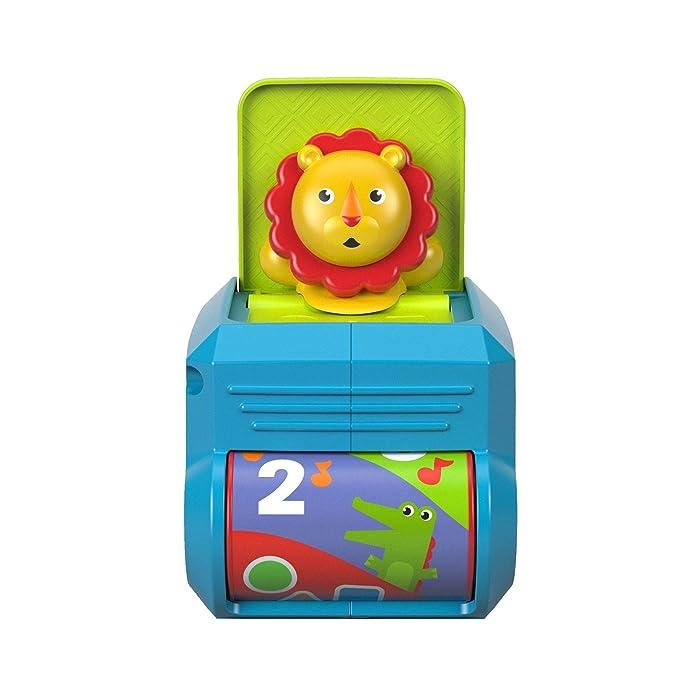 Fisher-Price León caja de sorpresas, juguete para bebé + 6 meses (Mattel FHF77): Amazon.es: Juguetes y juegos
