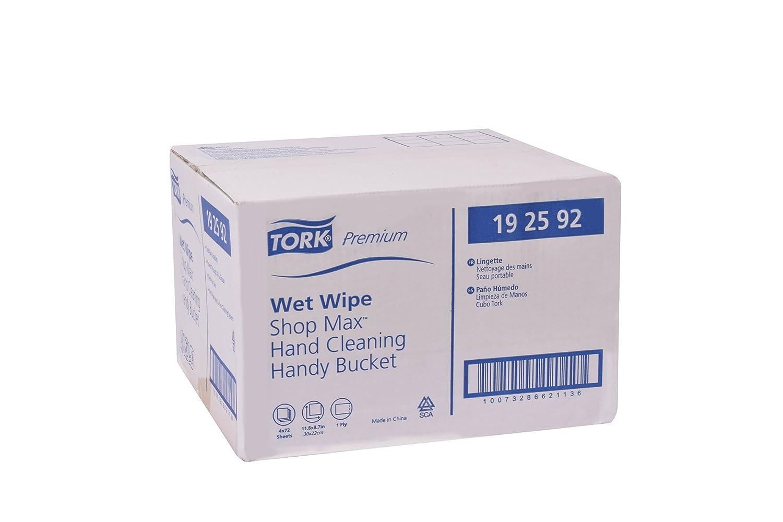 Tork Premium 192592 ShopMax toallitas húmedas limpiador de mano, cubo, 1 capa, 11,8