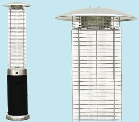 Estufa aerea Pirámide Seta a gas Niklas Fuego Vivo 13 kW Acero mq25 termopatio