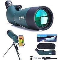 25-75x70 Telescopio Terrestre con Trípode, Bolsa de Transporte y Adaptador de Teléfono Inteligente para Turismo Safari…