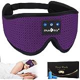 MUSICOZY Sleep Headphones Bluetooth Headband Breathable 3D Sleeping Headphones, Wireless Music Eye Mask Sleep Earbuds for Sid