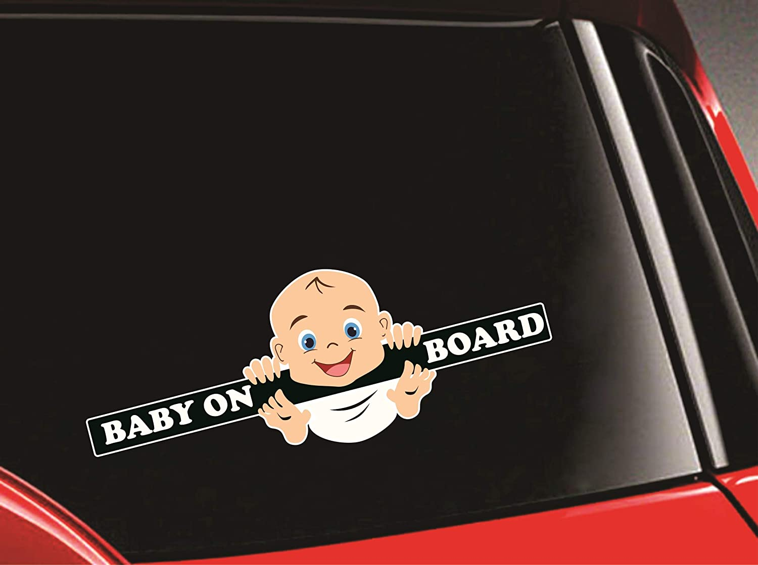 Syga baby on board laughing baby car stickers amazon in toys games