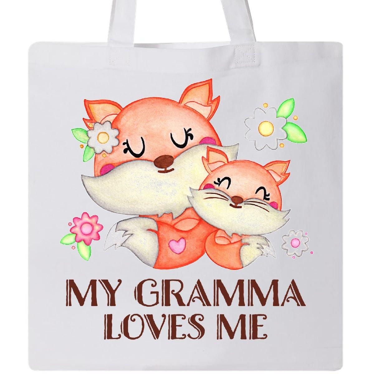Inktastic - My Gramma Loves Me- cute fox Tote Bag White 2f81e