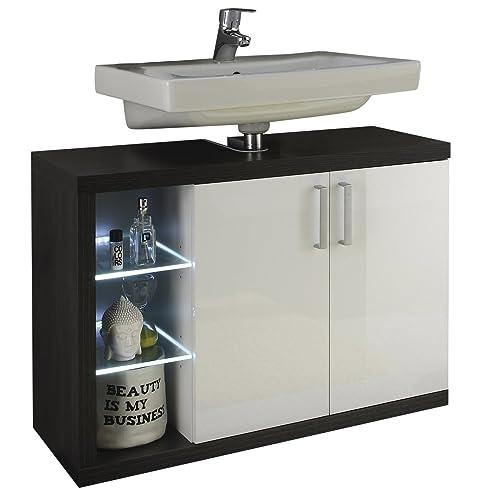 Großartig Trendteam Badezimmer Waschbeckenunterschrank Unterschrank Sunrise, 90 X 63  X 36 Cm In Korpus Sardegna Rauchsilber