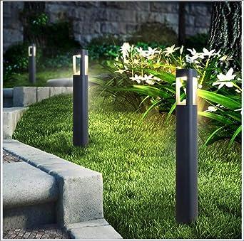 Luz LED para césped, jardín Exterior impermeable Villa Luz Paisaje Verde, parque jardín Exterior, lámpara minimalista Nordica, Gray: Amazon.es: Iluminación