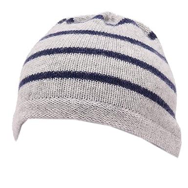 PAULA 9260Y cuffia bimbo boy grey/blue mix beanie wool hat [6 M ...