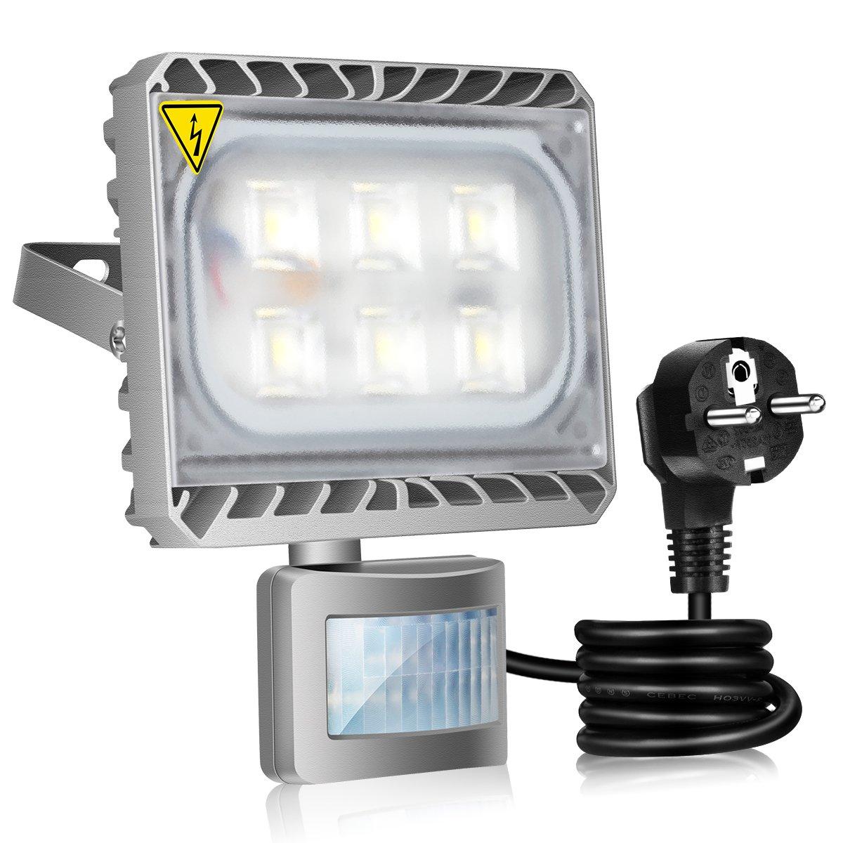GOSUN/® 30W Blanco Fr/ío LED Foco Proyector Luz Foco proyector con iluminaci/ón LED y PIR sensor de movimiento,36 meses garant/ía
