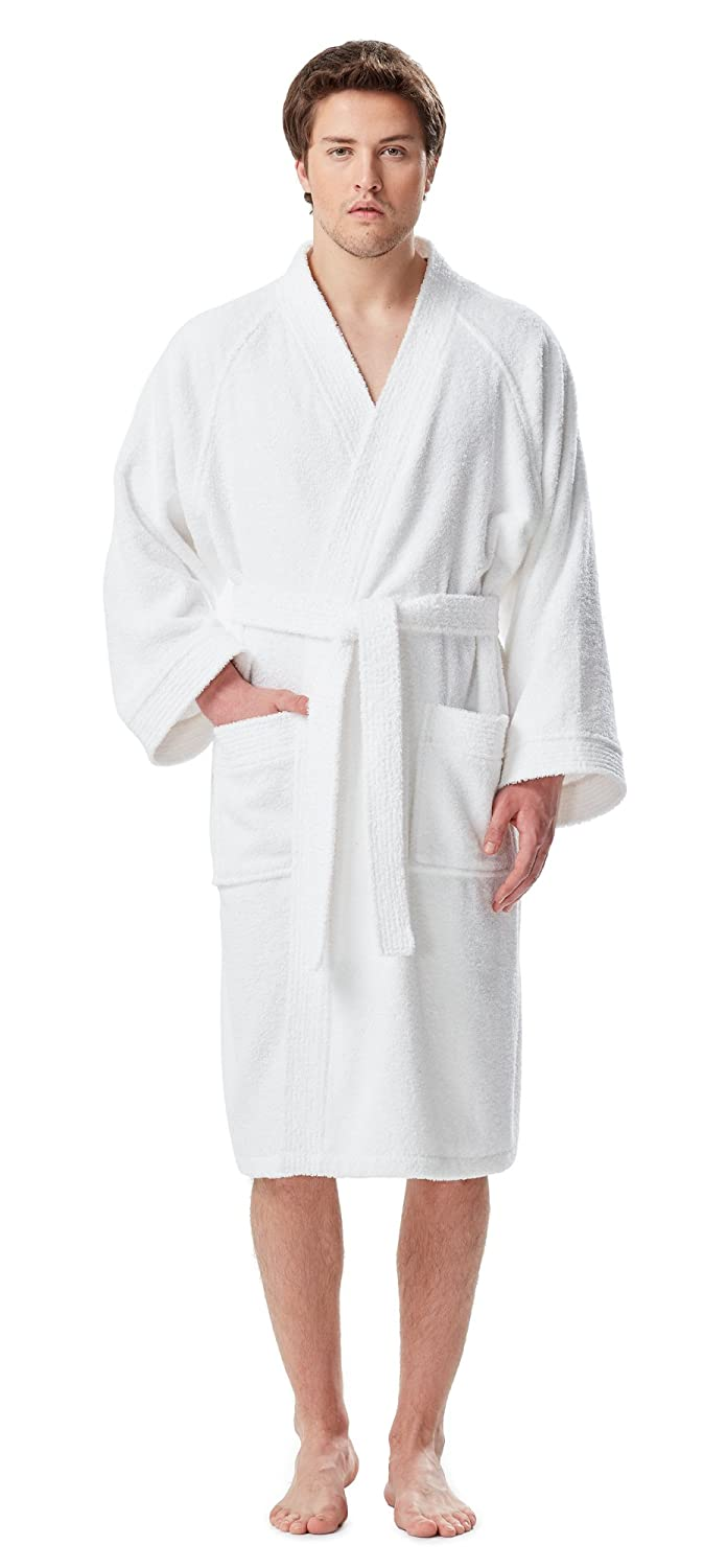 Arus Men's Short Kimono Bathrobe Turkish Cotton Terry Cloth Robe Arus Marketing