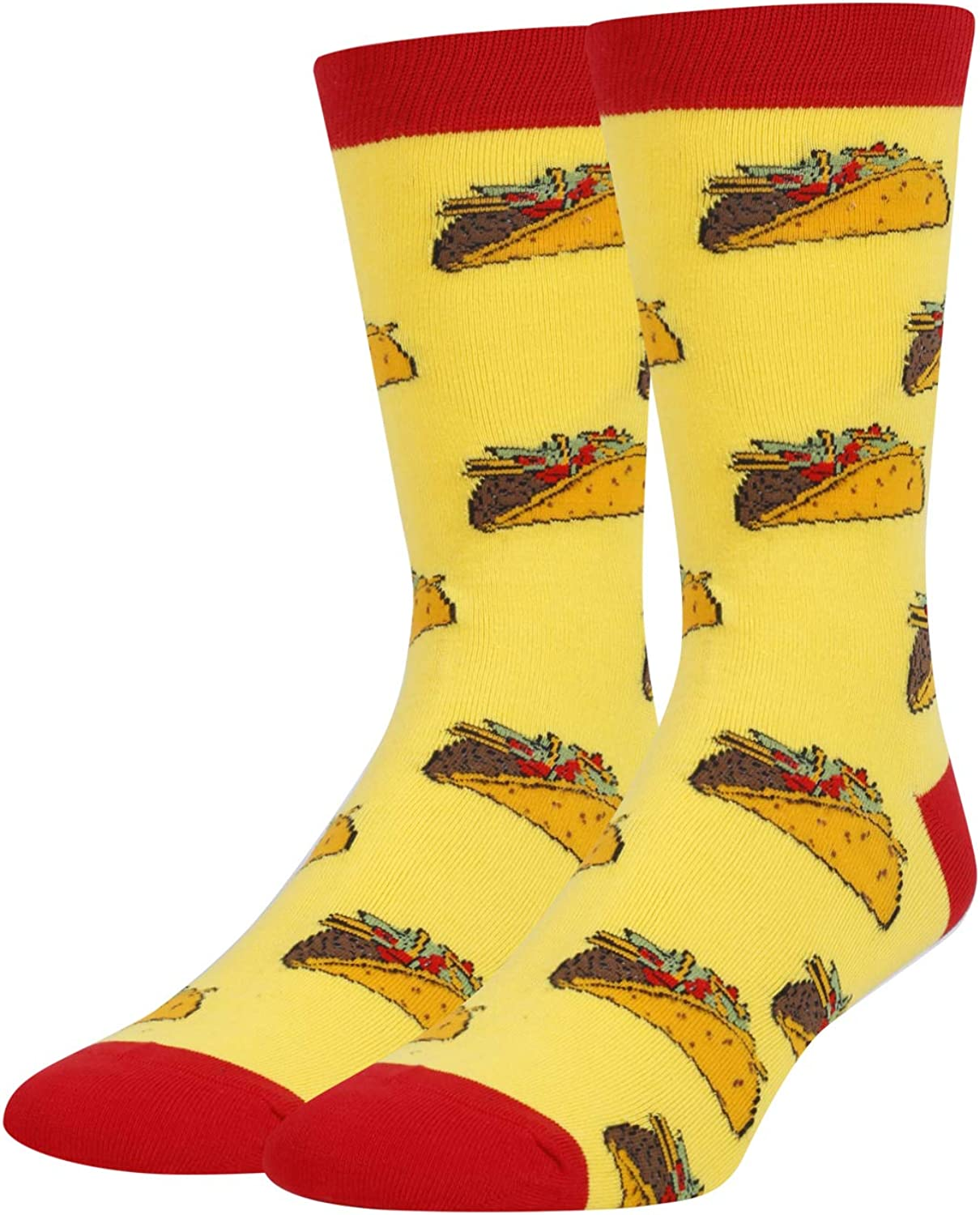 HAPPYPOP Men's Taco Donut Beer Pizza Pickle Dill Socks Funny Crazy Cool Food Lover Gift