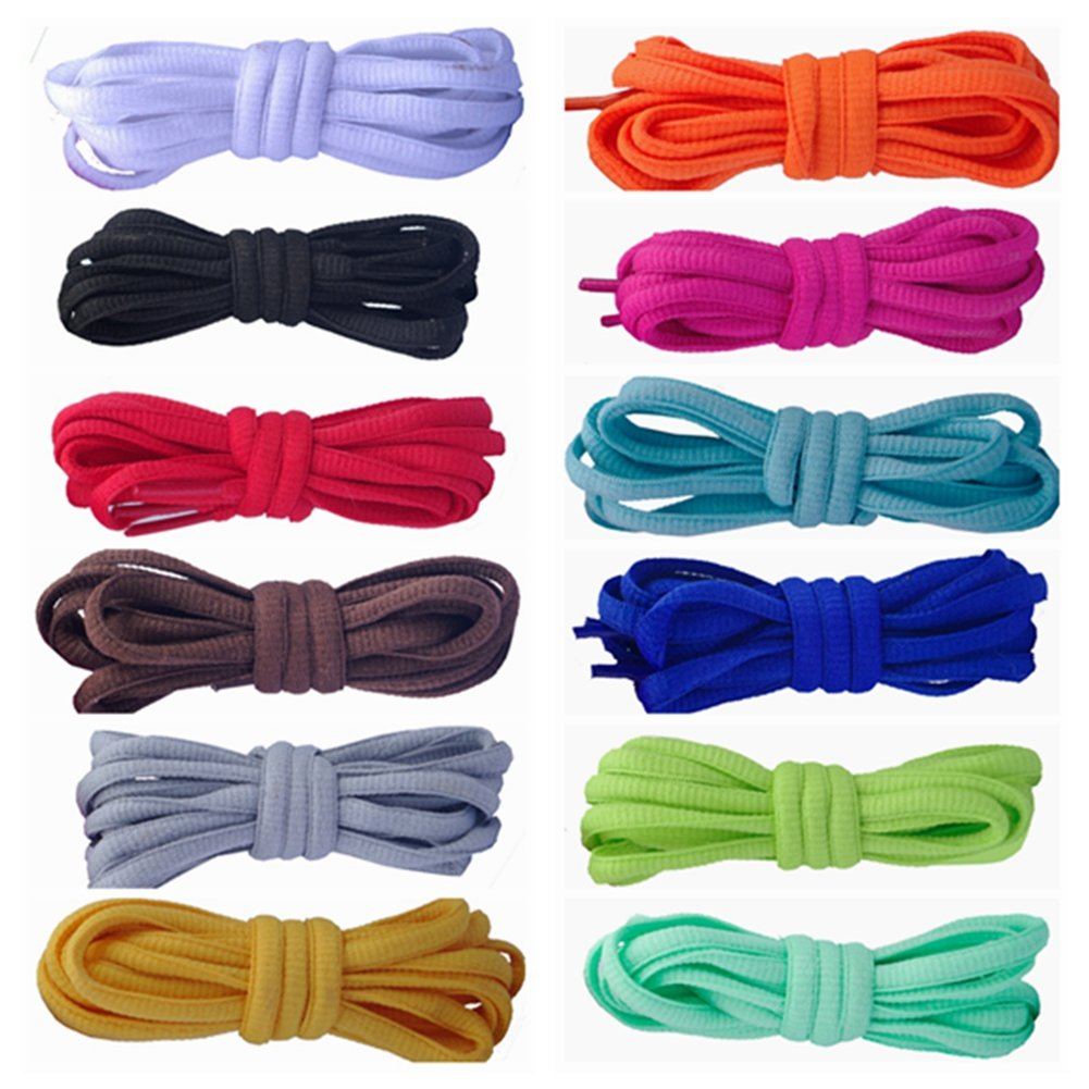 12 Pairs of Shoelaces Shoe Laces Polyester Different Color 39