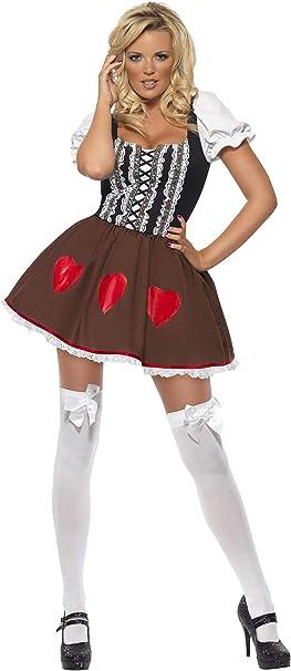 Fever 38728 - Disfraz de Heidi para Mujer (Talla S), Color marrón ...