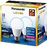 パナソニック LED電球 E26口金 電球40W形相当 昼光色相当(4.4W) 一般電球・広配光タイプ 2個入 密閉形器具対応 LDA4DGK40ESW2T