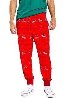 Tipsy Elves Men s Funny Christmas Jogger Pants - Holiday Xmas Pajama Pants  for Males b9f44b306