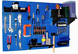 product image for Pegboard Organizer Wall Control 4 ft. Metal Pegboard Standard Tool Storage Kit with Blue Toolboard and Black Accessories