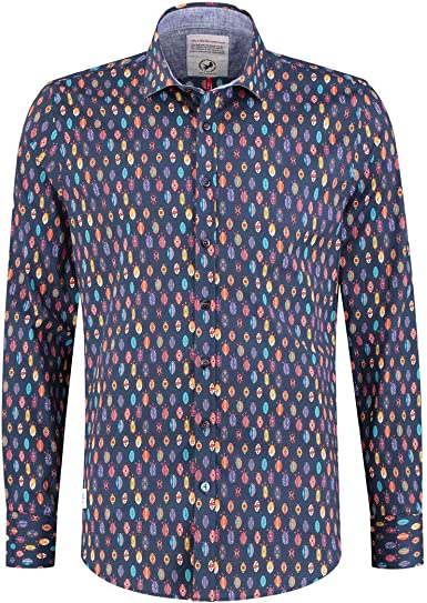 A FISH NAMED FRED Camisa Africana - Color - Azul, Talla - L ...