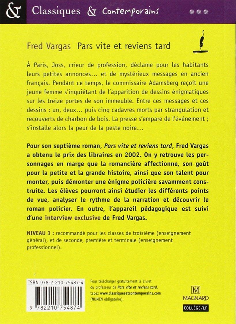 Pars Vite Et Reviens Tard Fred Vargas 9782210754874